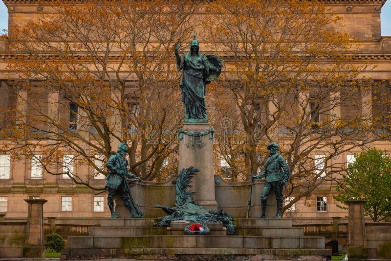 Pomnik królewiątka Liverpool pułk w Liverpool, UK zdjęcia royalty free