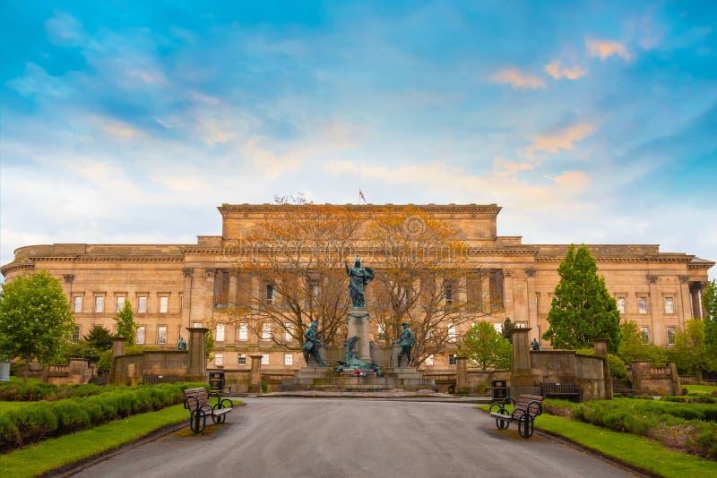 Pomnik królewiątka Liverpool pułk w Liverpool, UK fotografia royalty free