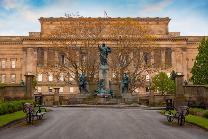 Pomnik królewiątka Liverpool pułk w Liverpool, UK zdjęcie stock