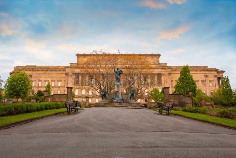 Pomnik królewiątka Liverpool Reigiment w Liverpool, UK zdjęcia stock