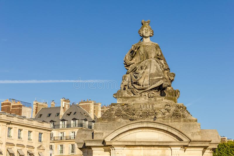 Pomnik Lille, Place de la Concorde obraz royalty free