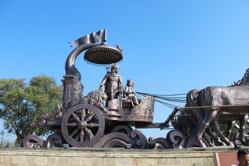 Pomnik lorda arjuny w kurukszetrze zdjęcia stock