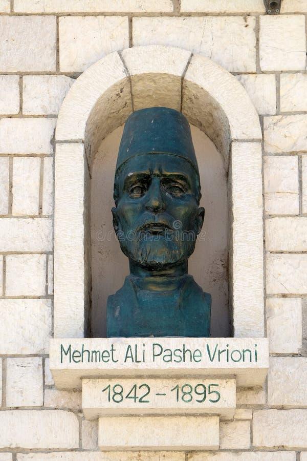 Pomnik Mehmet Ali Pashe Vrioni w Berat, Albania obrazy royalty free