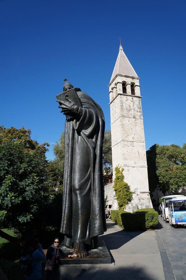 Pomnik michaelita Grgur od Nin fotografia royalty free