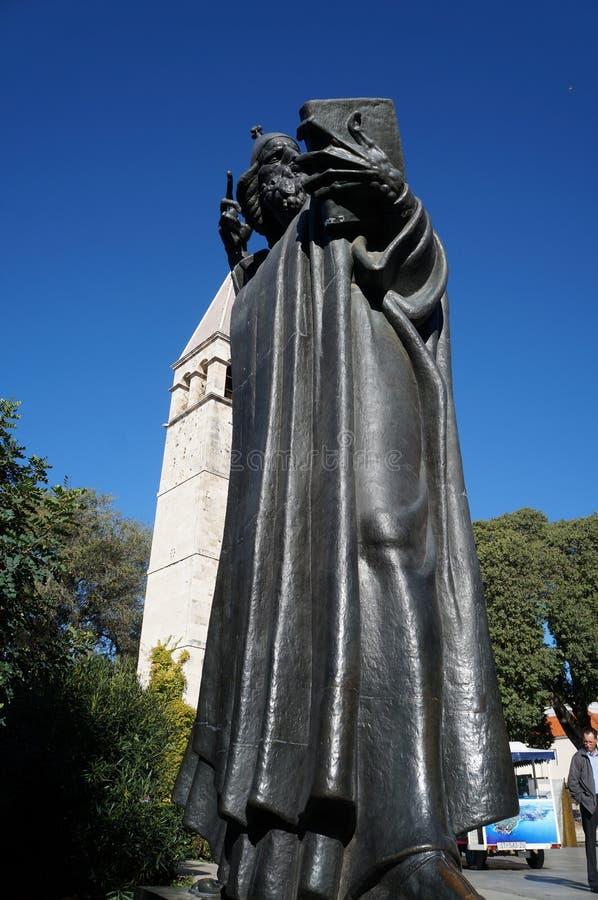 Pomnik michaelita Grgur od Nin zdjęcie stock