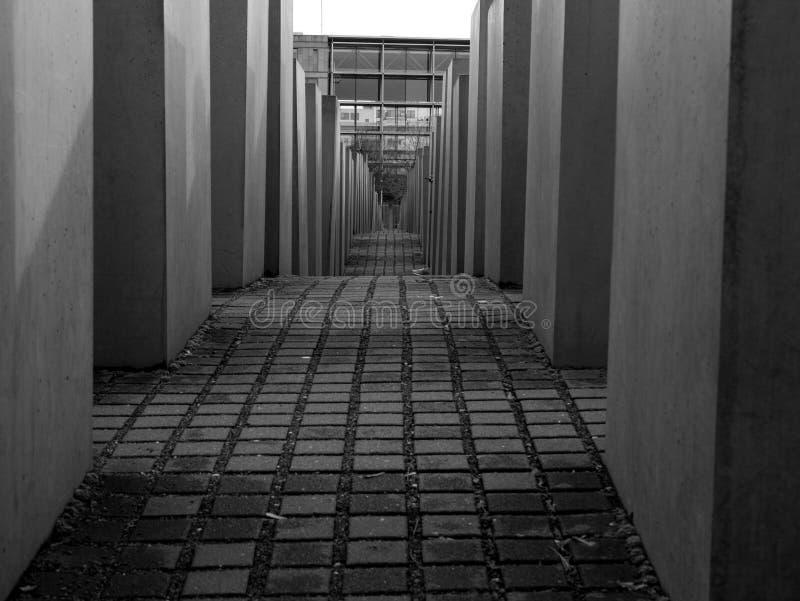 Pomnik Mordujący żyd Europa, holokausta pomnik w Berlin/, Niemcy zdjęcia stock
