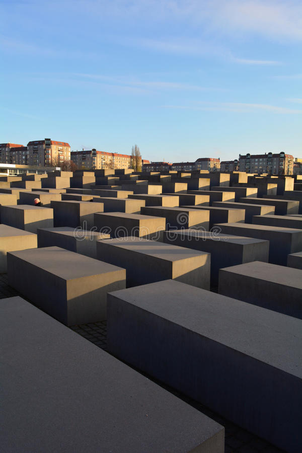 Pomnik Mordujący żyd Europa w Berlin (holokaust) zdjęcia stock