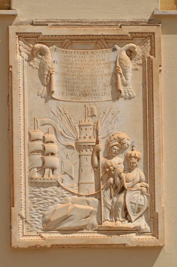 Pomnik na Katedralnej ścianie fotografia royalty free