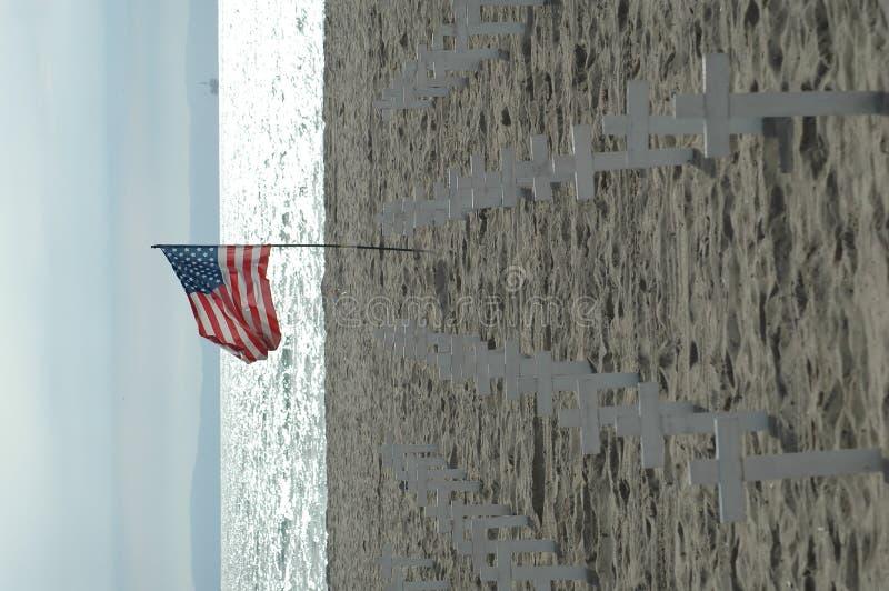 pomnik na plaży obraz royalty free