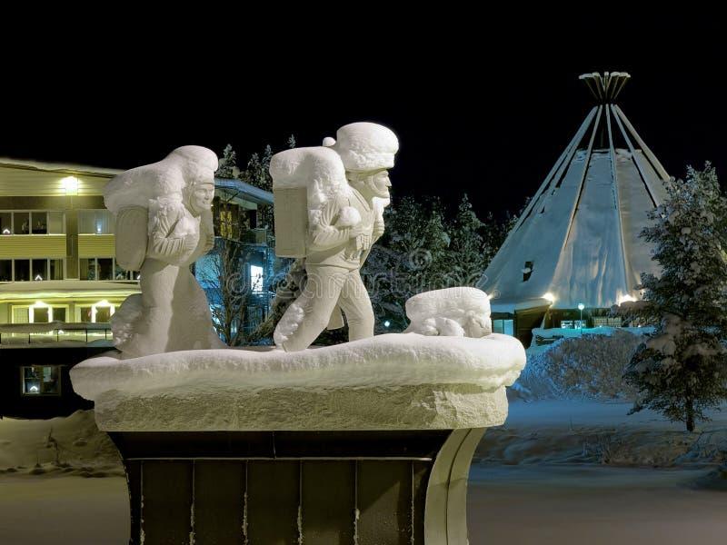 Pomnik osadnicy w Lycksele, Szwecja zdjęcia royalty free