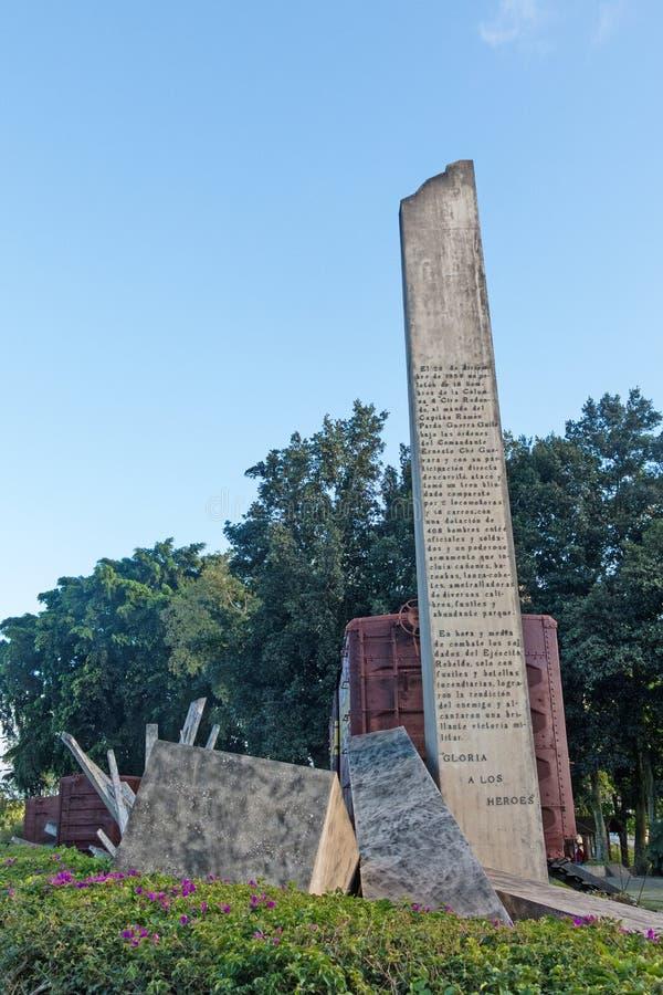 Pomnik pociąg pakował z rządowymi żołnierzami chwytającymi Che Guevara ` s siłami podczas rewoluci Kuba zdjęcie royalty free