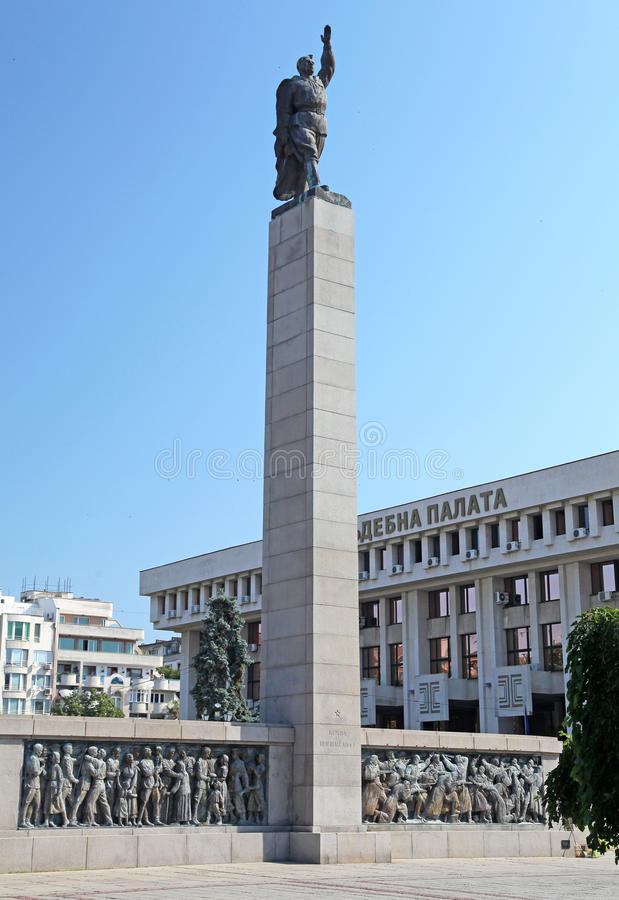 Pomnik przy Burgas, Bułgaria obraz royalty free