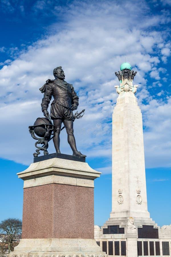 Pomnik przy Plymouth motyką, Devon zdjęcie royalty free