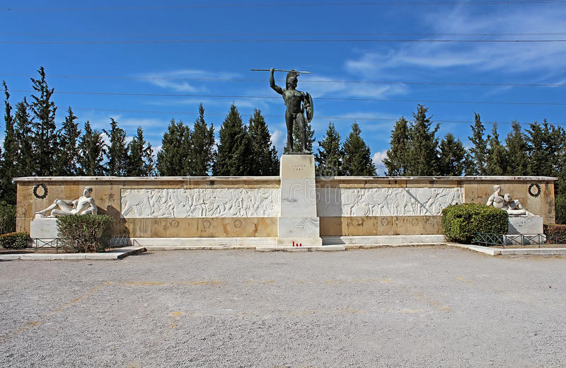 Pomnik 300 spartans, Grecja obrazy royalty free