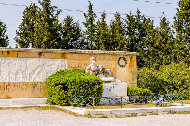 Pomnik 300 spartans, Thermopylae, Grecja fotografia stock