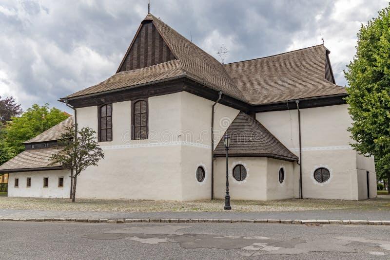 Pomnik UNESCO - Kezmarok - Kościół Trójcy Świętej, Słowacja obrazy stock