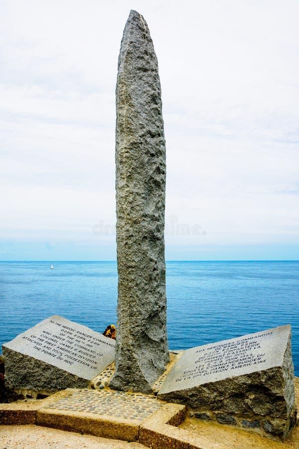 Pomnik w Pointe Du Hoc obraz stock