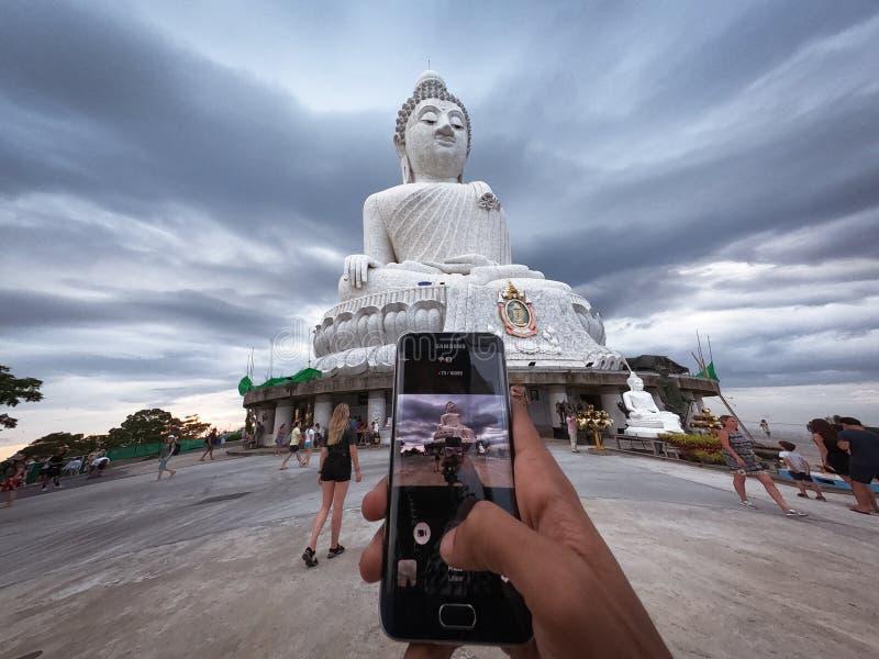 Pomnik Wielkiego Buddy - pomnik Maravija Buddha zdjęcia stock