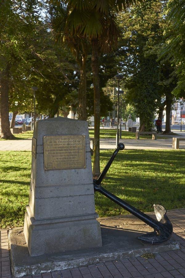 Pomnik WW1 Morska bitwa Coronel obraz stock