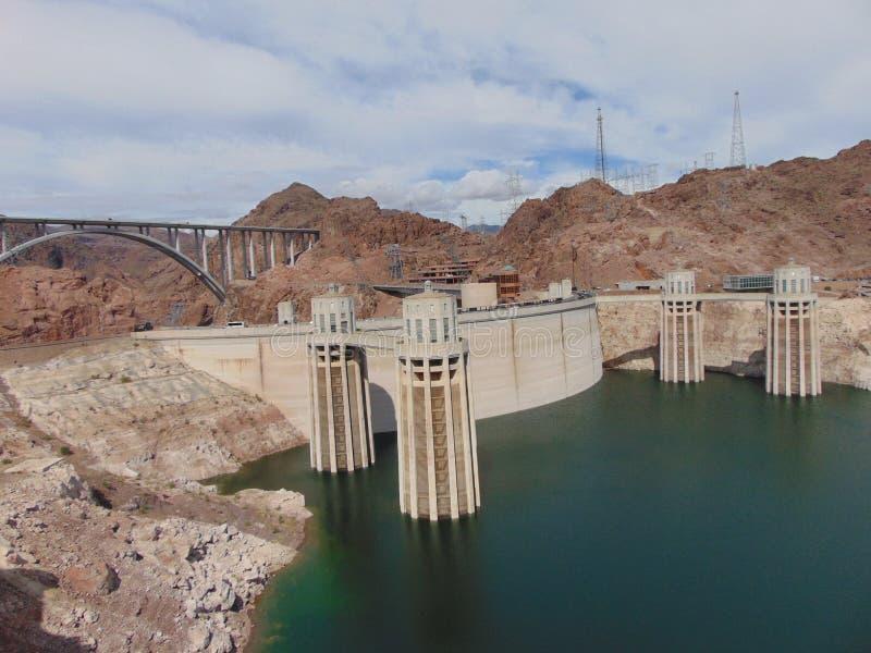 Pomnika most i Hoover tama - usa obraz stock