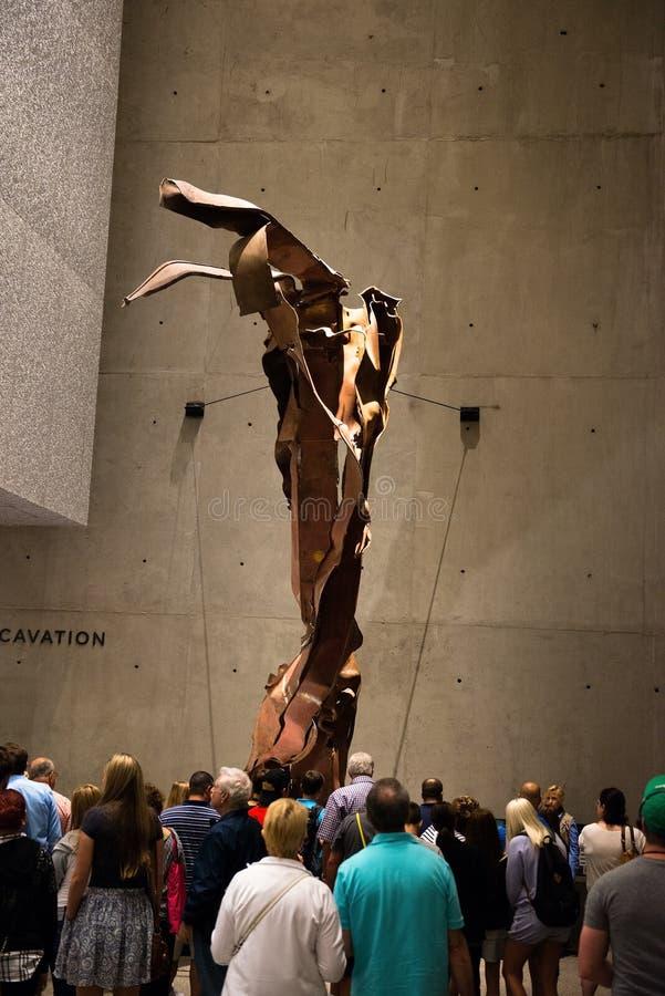 9 11 pomnika muzeum Nowy Jork obraz stock