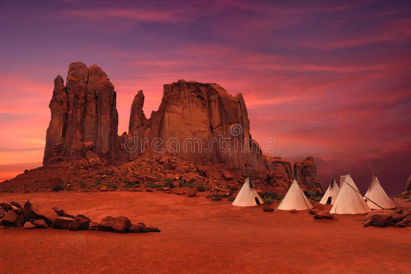 Pomnikowa dolina w Arizona, Utah usa/ obrazy stock
