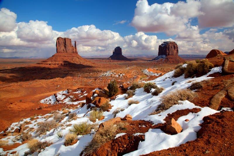 Pomnikowa dolina w zimie zdjęcie royalty free