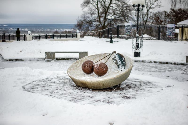 Pomnikowa Vladimir wiśnia jest turystycznym punktem zwrotnym obraz stock