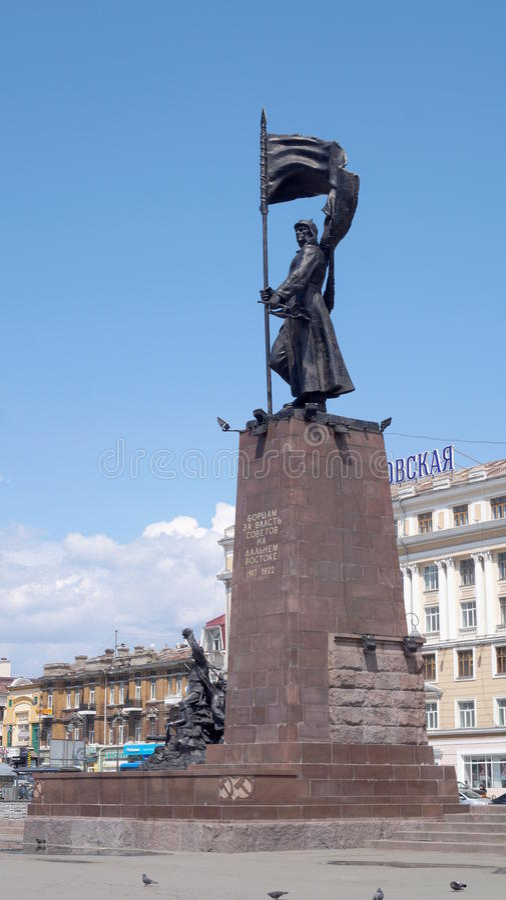 Pomnikowi ` wojownicy dla władzy sowieci w Daleki Wschód ` zdjęcia stock