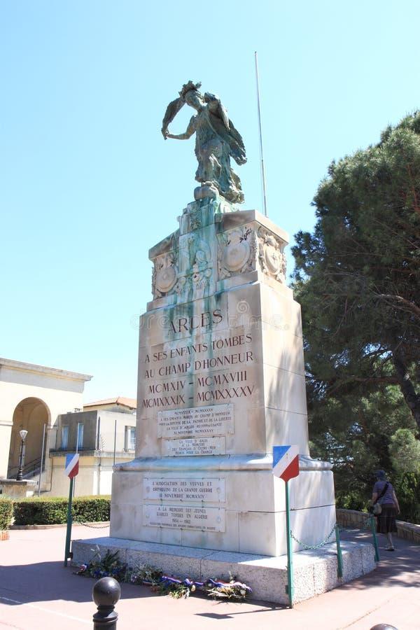 Pomnikowy aux Morts w Arles, Francja obrazy royalty free