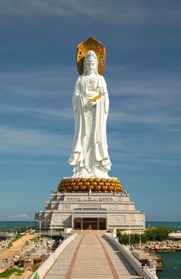 Pomnikowy Guanyin Południowy morze Sanya w Chiny fotografia stock