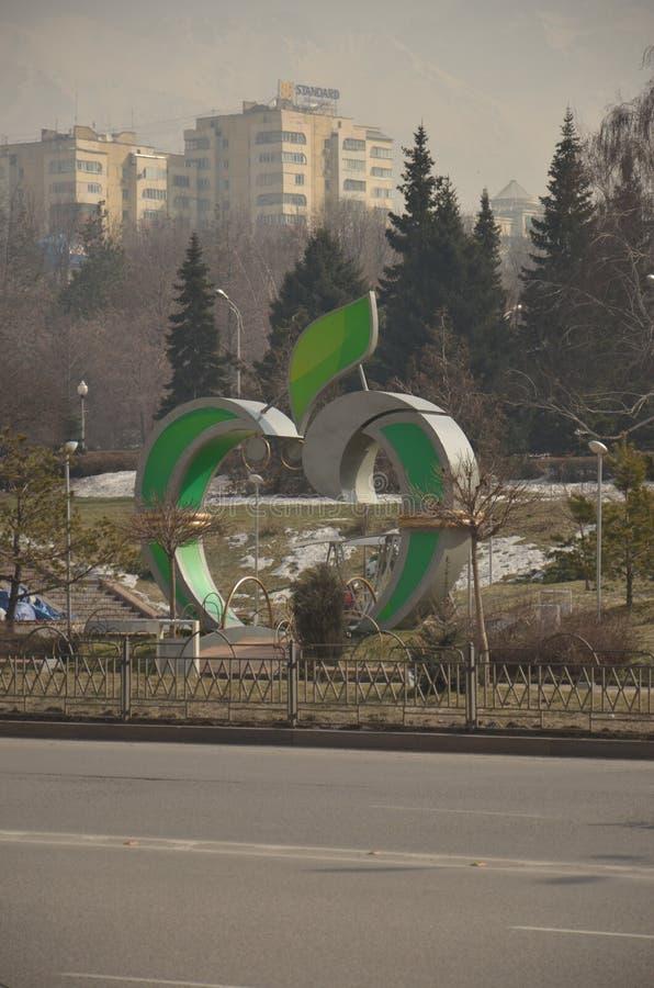 Pomnikowy jabłko w mieście Astana zdjęcie stock