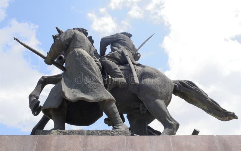 Pomnikowy ` Najpierw jeźdza ` - rzeźbiarz E Vucetich obraz stock