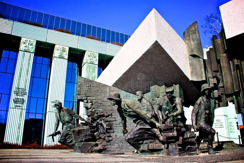pomnikowy powstanie Warsaw zdjęcie royalty free
