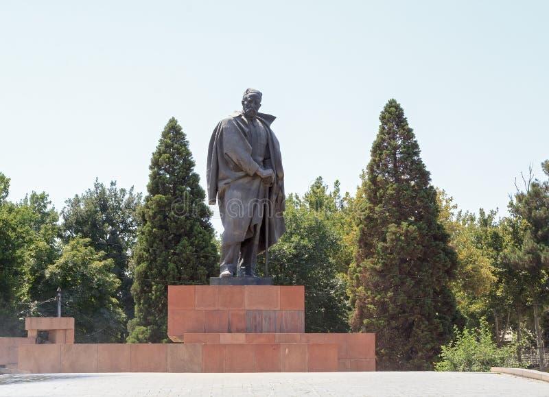 Pomnikowy Sadriddin Aini dushanbe Tajikistan fotografia royalty free