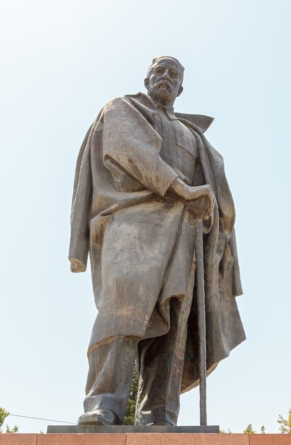 Pomnikowy Sadriddin Aini dushanbe Tajikistan fotografia stock