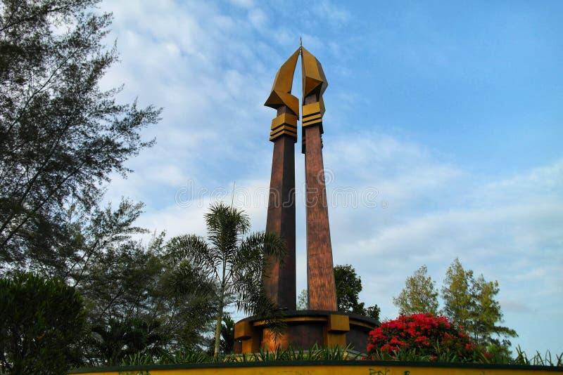 Pomnikowy Sampang miasto obraz stock