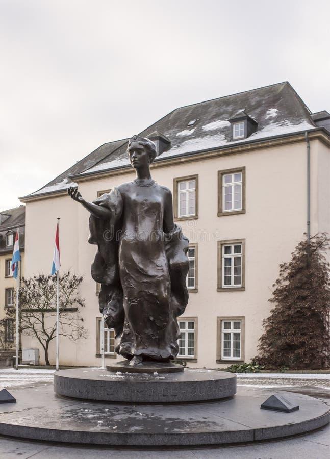 Pomnikowy Uroczysty Duchess Charlotte Francuskim rzeźbiarzem Jean Cardot obrazy royalty free