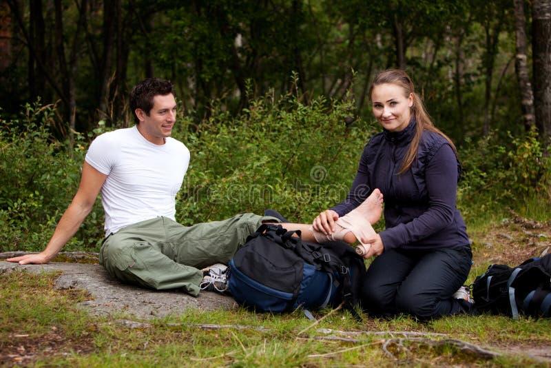 pomoc camping pierwszy fotografia stock