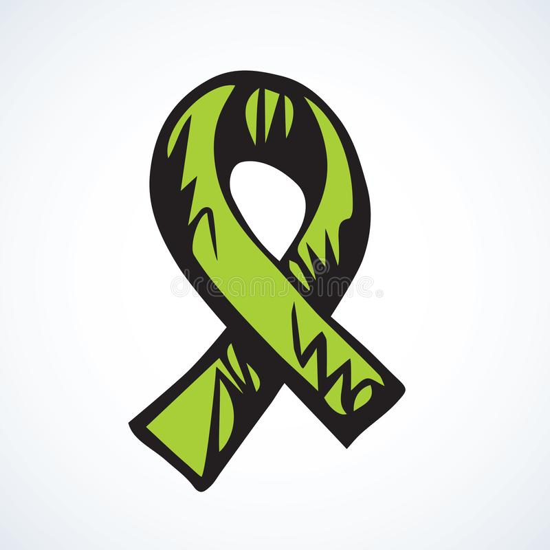 Pomoc faborku logo rysuje t?a trawy kwiecistego wektora ilustracja wektor
