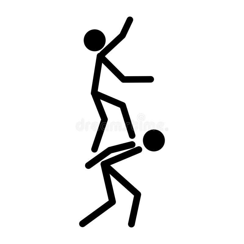Pomoc kija postać ilustracja wektor