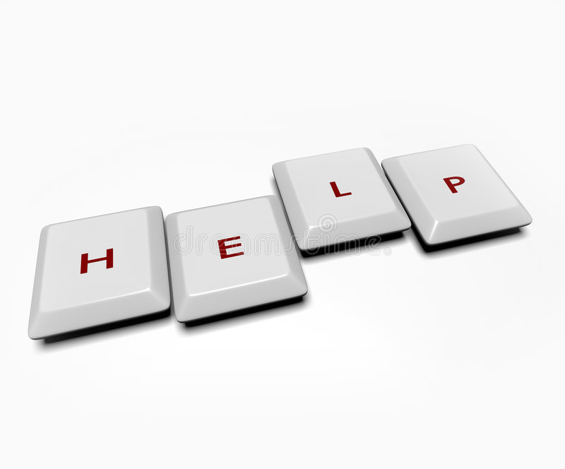 pomoc komputerowi klucze obraz royalty free