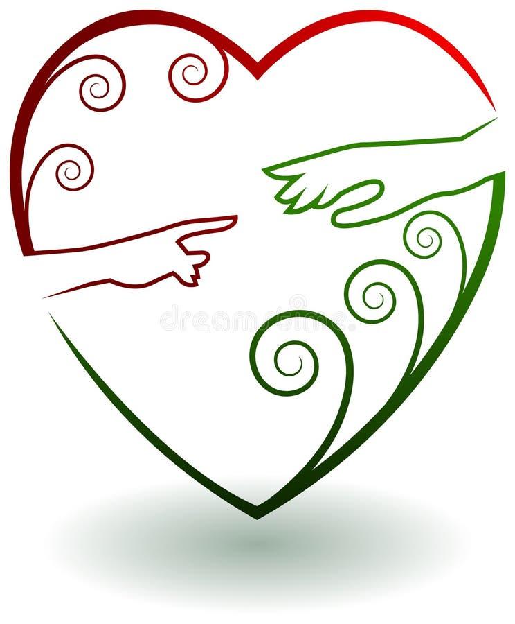 Pomoc logo ilustracja wektor