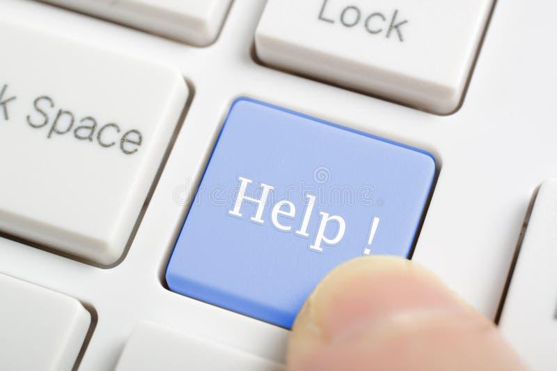 Pomoc na klawiaturze zdjęcia stock
