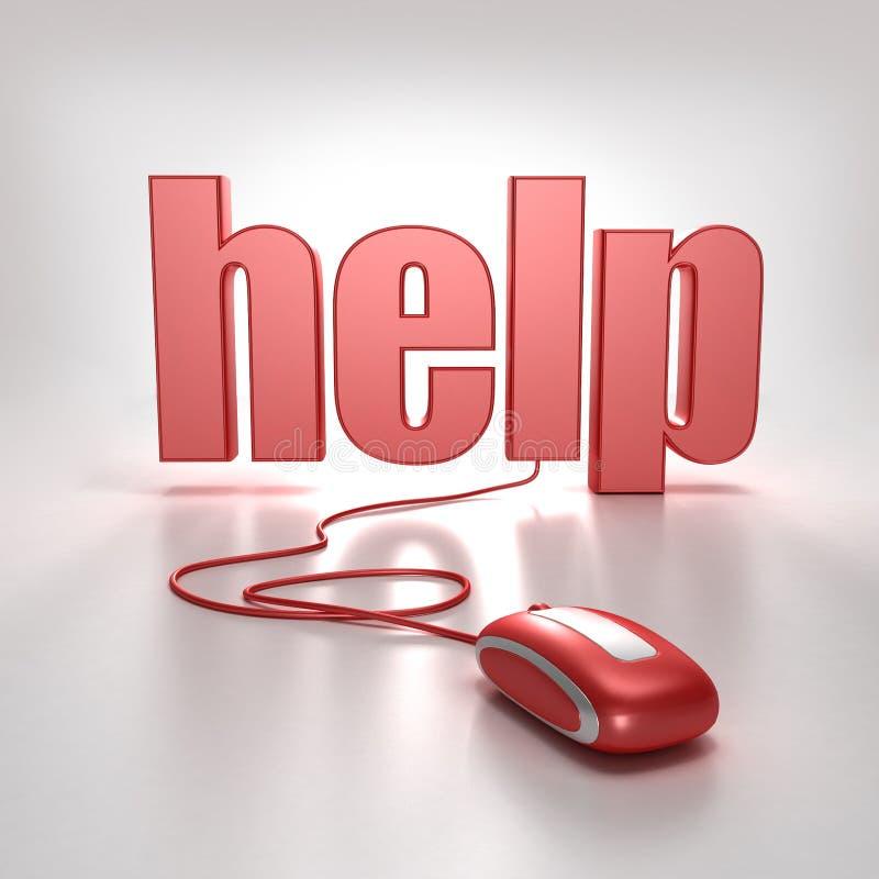 pomoc w sieci royalty ilustracja