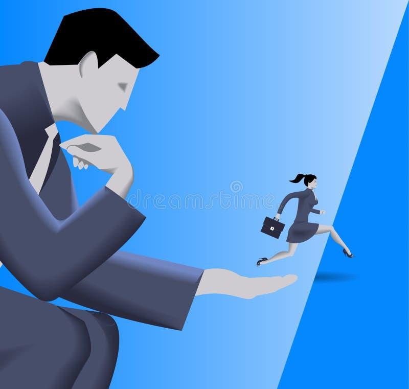 Pomocna dłoń biznesu pojęcie ilustracja wektor
