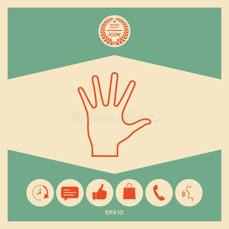 Pomocna dłoń - kreskowa ikona royalty ilustracja