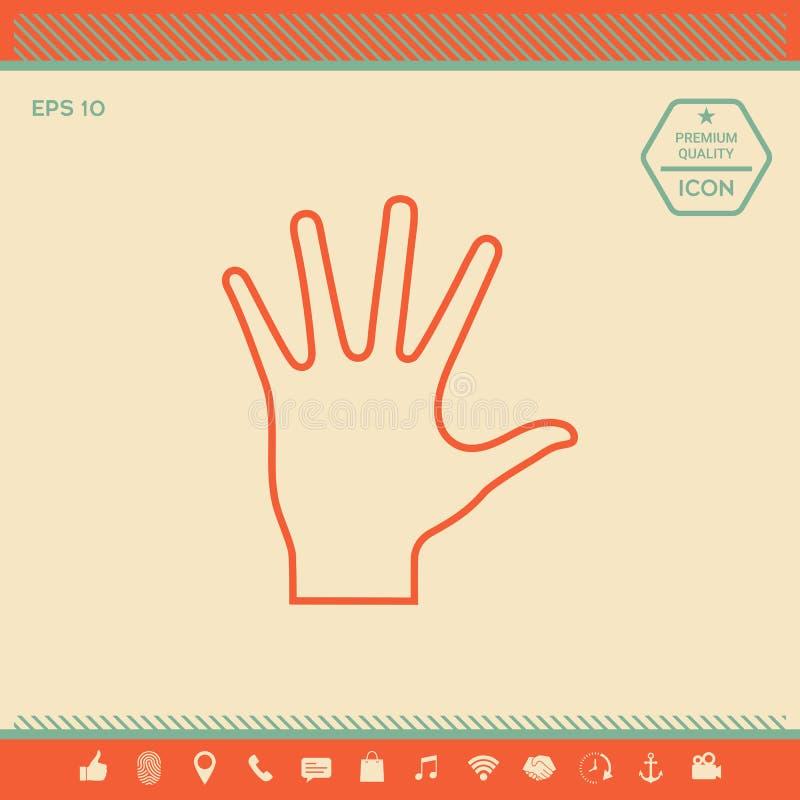 Pomocna dłoń - kreskowa ikona ilustracja wektor