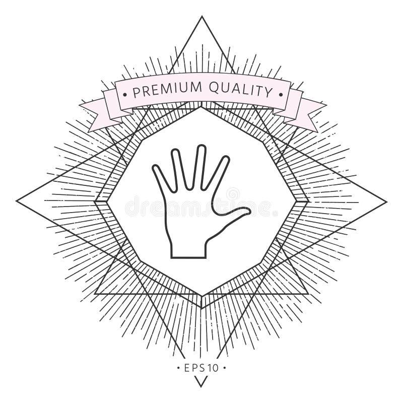 Pomocna dłoń - kreskowa ikona ilustracji