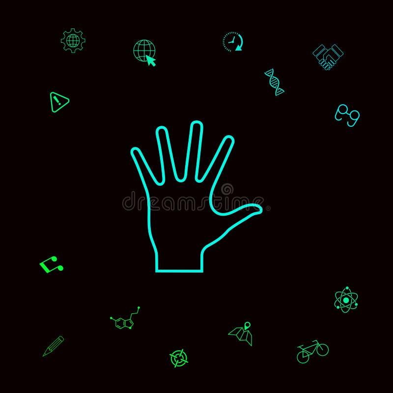 Pomocna dłoń - kreskowa ikona Graficzni elementy dla twój designt royalty ilustracja
